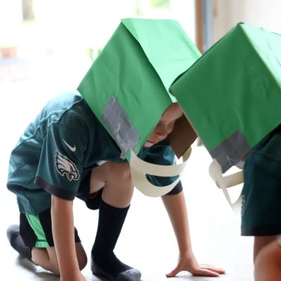 How To Make Easy DIY Cardboard Football Helmets For Kids