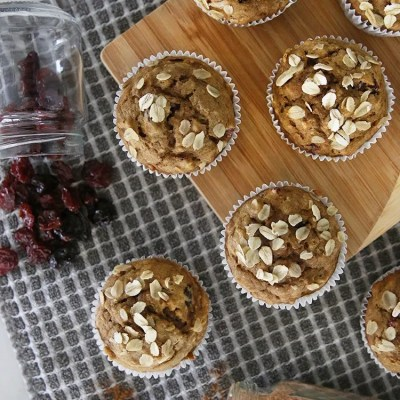 Low Waste Baking | Pumpkin Cherry Muffins