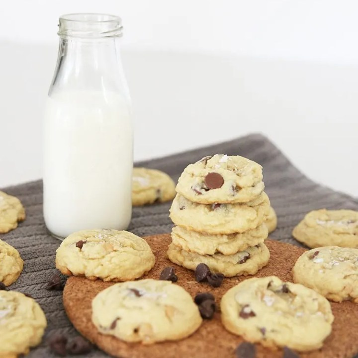 Peanut Butter Chip and Chocolate Chip Cookies with Sea Salt
