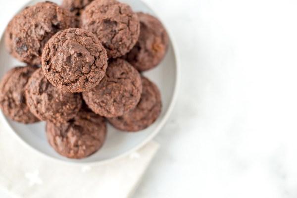 Grain-Free Double Dark Chocolate Zucchini Muffins {paleo, dairy free}
