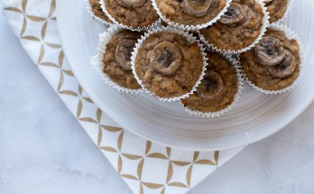 Sugar Free Banana Walnut Muffins | www.honestlynourished.com