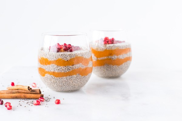 Chai-Spiced Chia Pudding Parfaits with Persimmon Puree