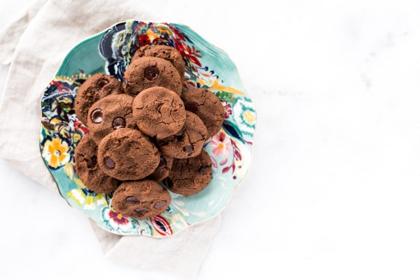 Vegan Grain-Free Double Dark Chocolate Chickpea Cookies