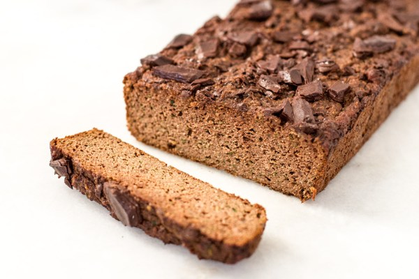 Dark Chocolate Chunk Paleo Zucchini Bread (gluten free + dairy free + refined sugar free, low-carb)