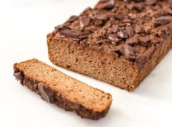 Equally satisfying as a healthy breakfast or indulgent dessert, this simple zucchini bread is crazy moist and feels rich and decadent while being totally healthy and nutritious. Sweetened with bananas and a spoonful of maple syrup, it's sugar free, grain-free, gluten-free, dairy-free and will please every palate! | via Honestly Nourished