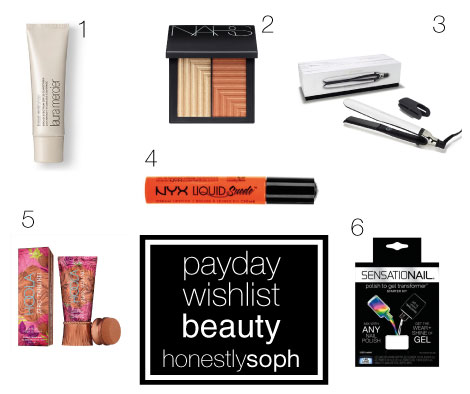 Payday Wishlist Beauty