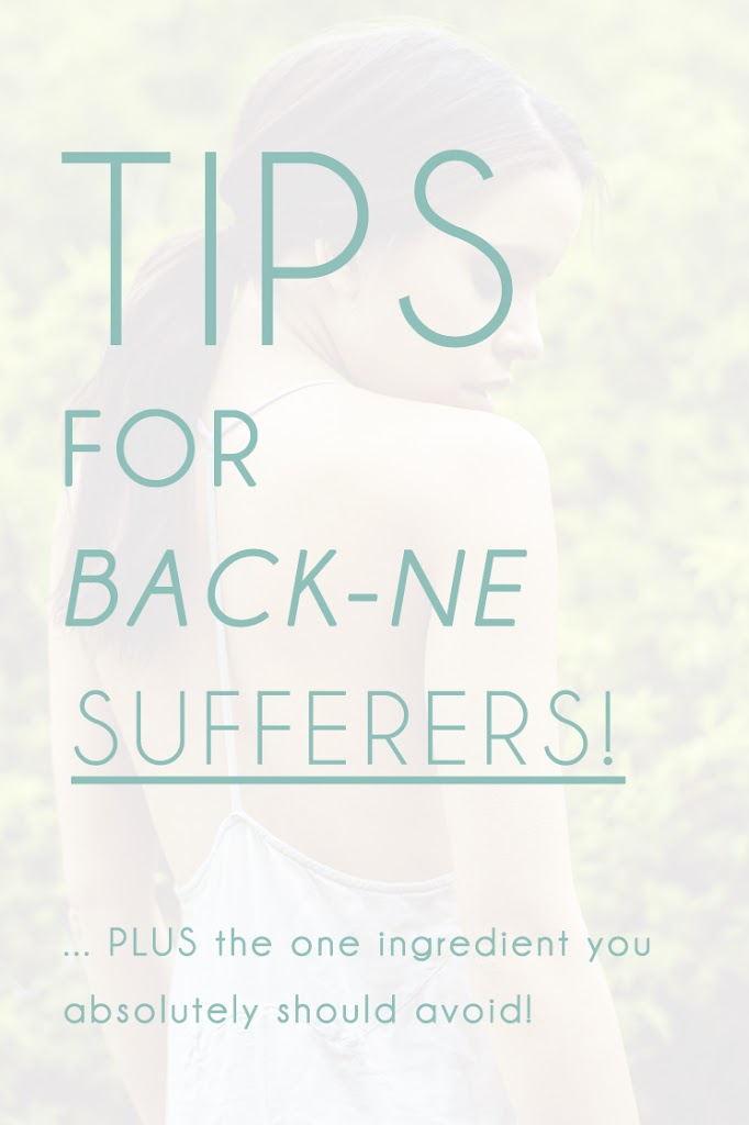 Tips for back acne and spot sufferers