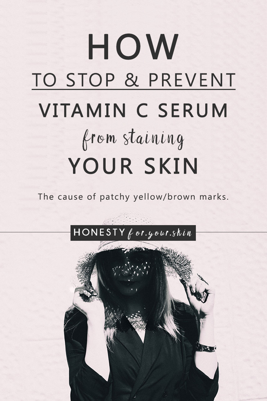 Ready to learn how to stop vitamin C serum from staining your skin? Let's get going...