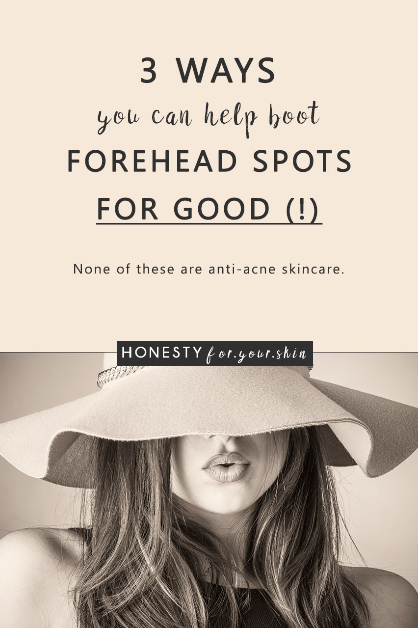 3 science proven ways to help get rid of pesky spots on forehead. It's the little ones which get stuck to skin like sticky weed.