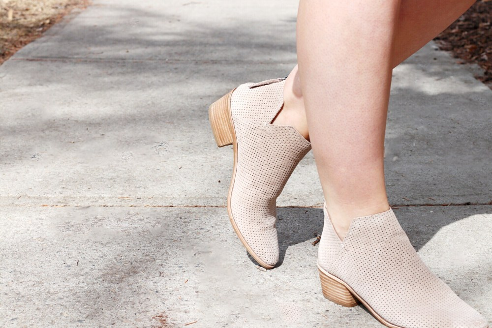 Dolce Vita Suede Nude Ankle Booties North Edmonton Saks OFF Fifth
