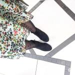 Booties polka dots and florals looks like Spring is herehellip