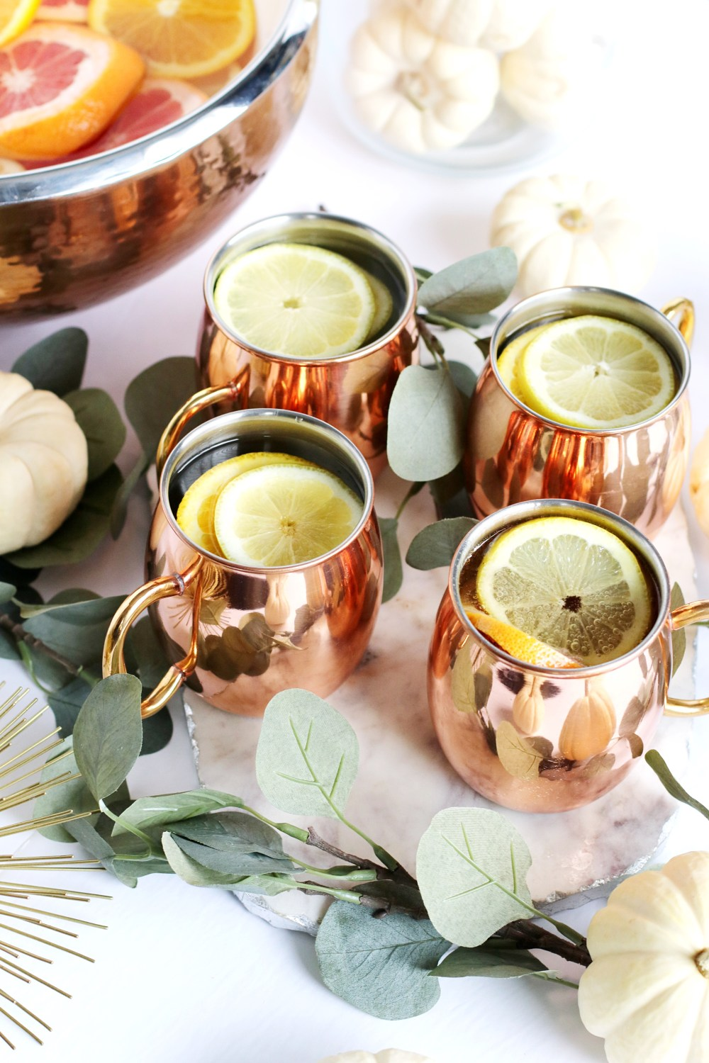 citrus autumn punch with white wine