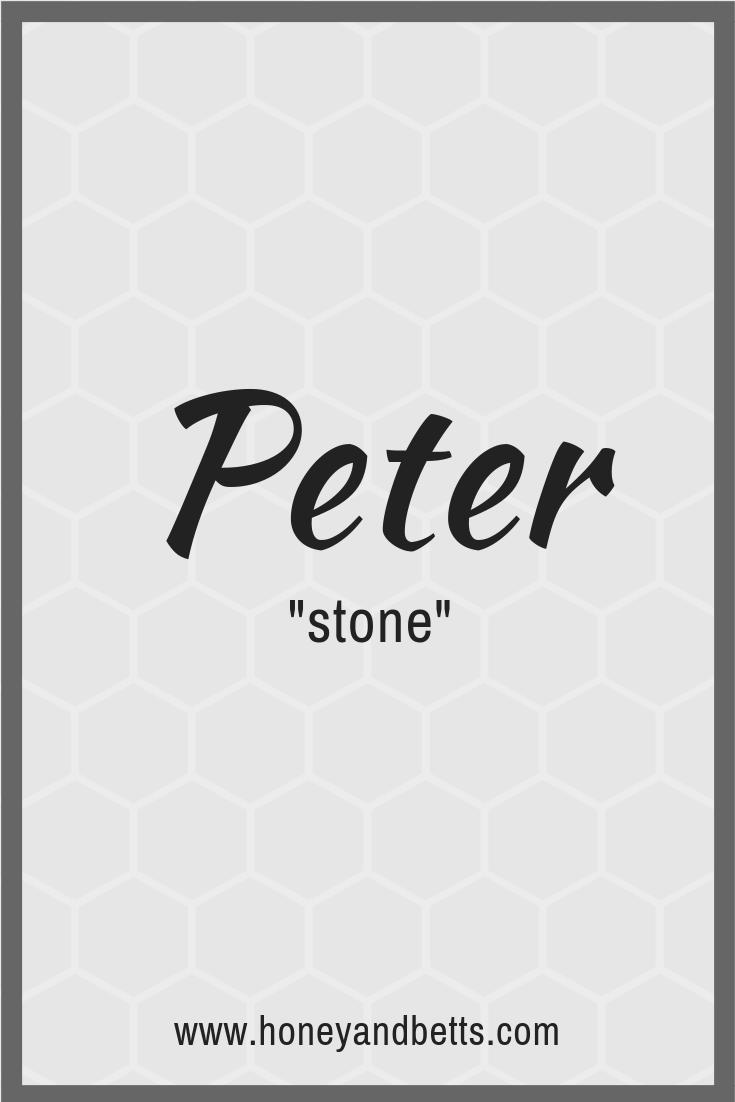 German Baby Boy Names Meanings Peter 2019 Honey Bettshoney Betts