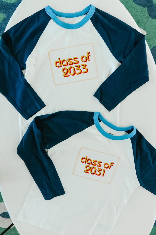 class of t-shirts