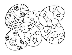 Decorated Easter Eggs printable coloring pages