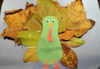 Fall leaves turkey craft - head outside to collect fallen leaves, such a fun Thanksgiving activity for kids
