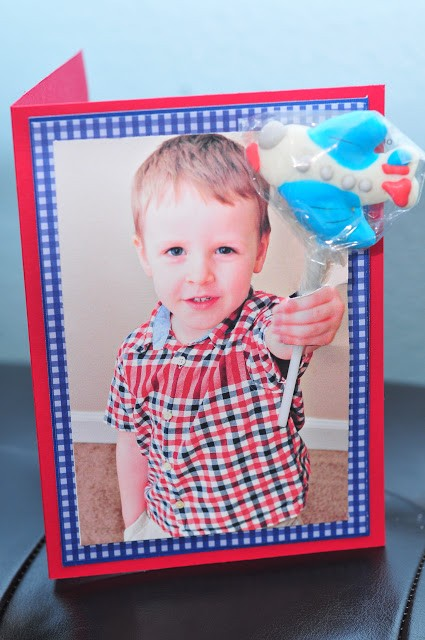 DIY Lollipop Valentines Day photo Card craft