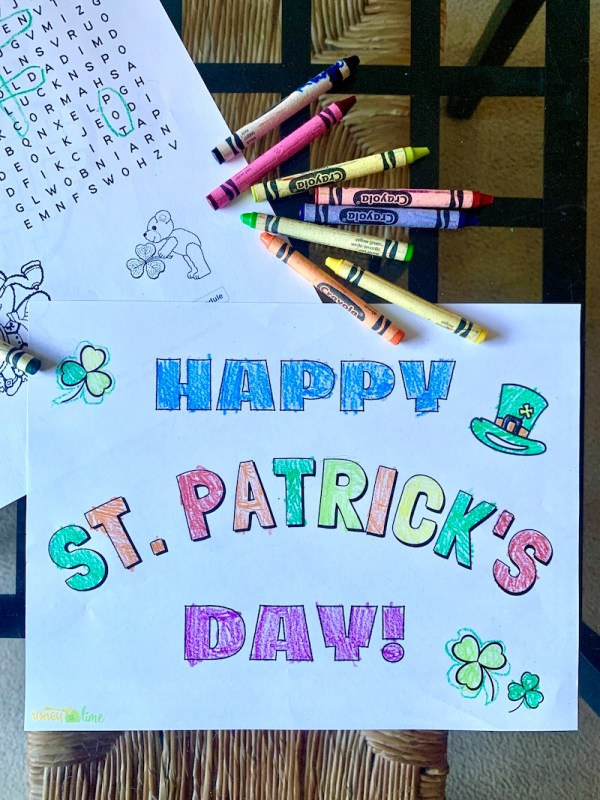 Happy St. Patrick's Day free coloring pages