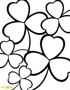 St Pattys Day coloring pages shamrocks - Honey and Lime