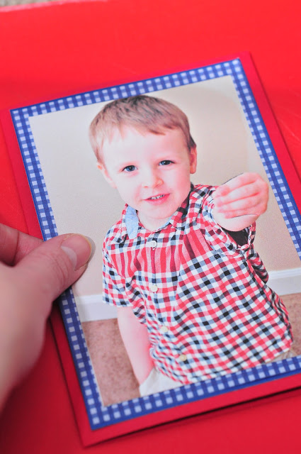 Valentine photo cards - Placing Picture on card