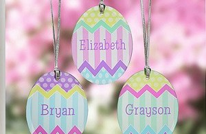 personalized suncatcher Easter eggs