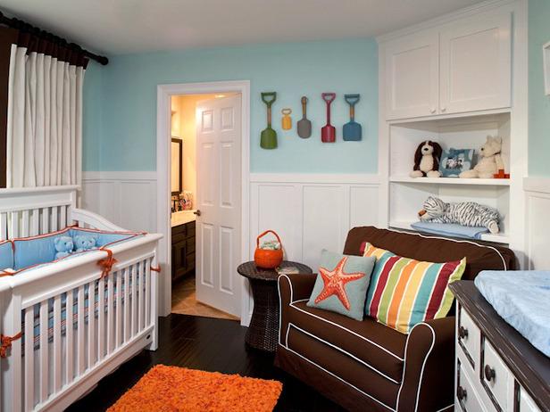 Unique nursery ideas - crib bedding beach theme baby room
