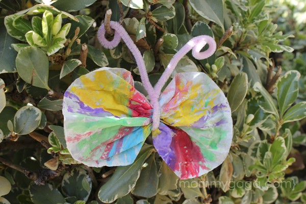 Butterfly Coffee filter spring kids craft
