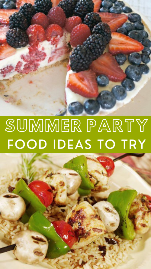 Summer food ideas for parties - Memorial Day recipe, July 4th party foods, Labor Day food ideas, and more
