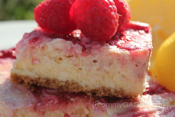 lemon raspberry cheese cake bars recipe