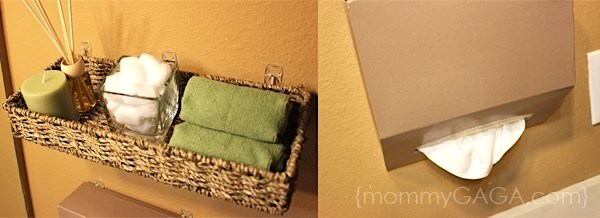 Floating tissue box on the wall