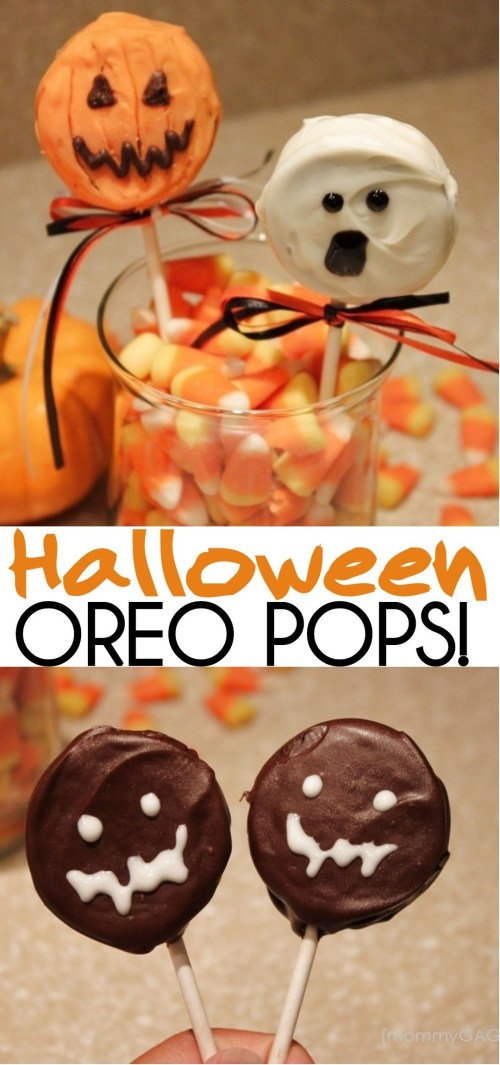 Cute Halloween Oreo Pops- Pumpkins Ghosts and Monsters Oh My!