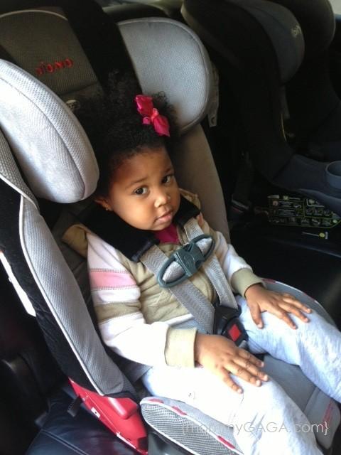 Kid Girl in Diono RadianRXT Convertible Car Seat