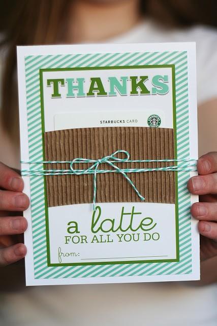 Thanks A Latte Starbucks Gift Card Holder