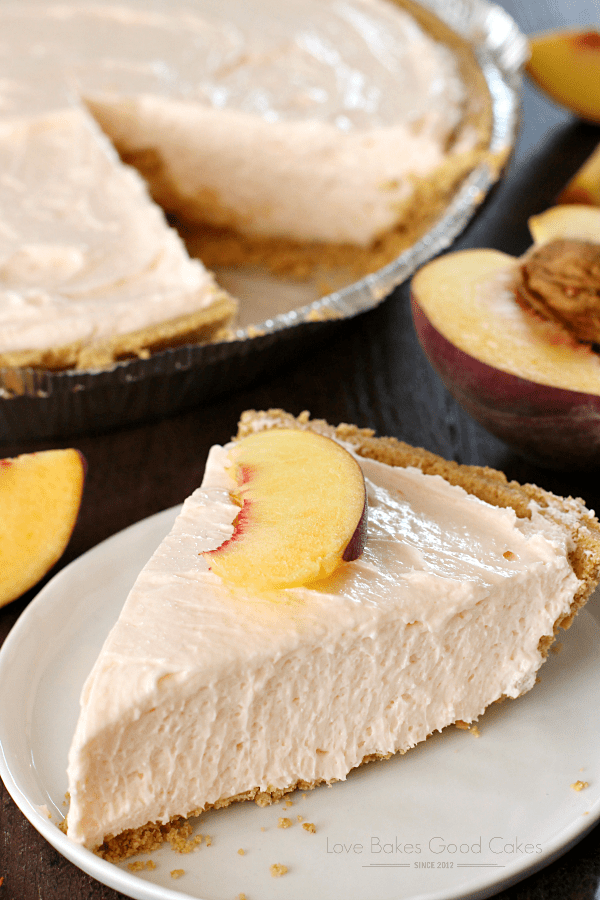 No-bake peach cheesecake recipe