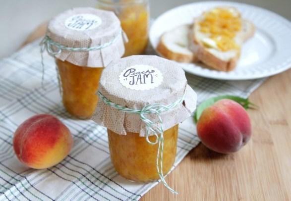 Fresh peach Jam preserves recipe
