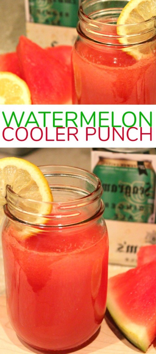 Refreshing Watermelon Cooler Punch with Seagram's Ginger Ale