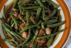 Bacon Green Bean Side Dish for Thanks giving dinner - super easy and quick to make