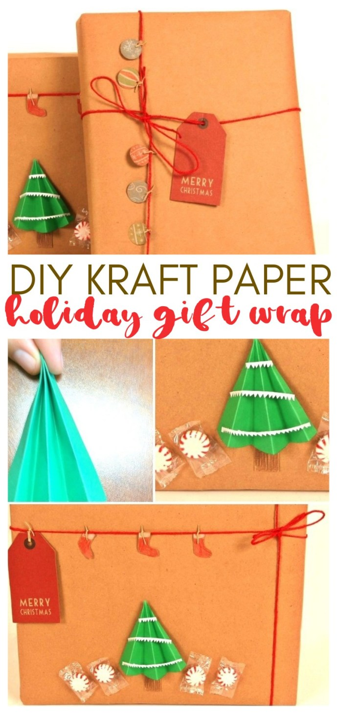 DIY Holiday Gift Wrap With Kraft Paper: An Eco-Friendly Alternative
