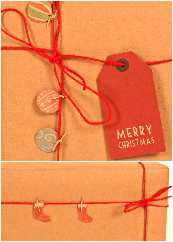 Holiday Gift Wrap With Kraft Paper - Fun Christmas gift wrapping ideas