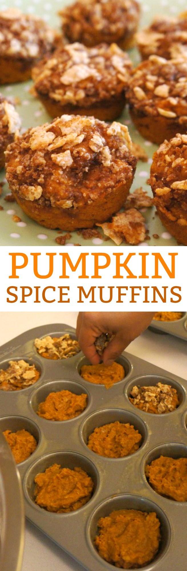 Fall Favorites- Streusel Topped Pumpkin Spice Muffins Recipe