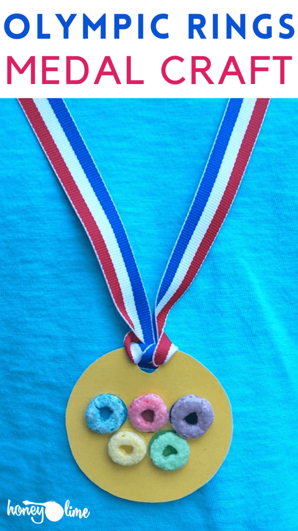 Gold Medal Olympic Rings Craft for Kids- Go Team USA