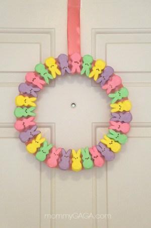 DIY Easter PEEPS Wreath