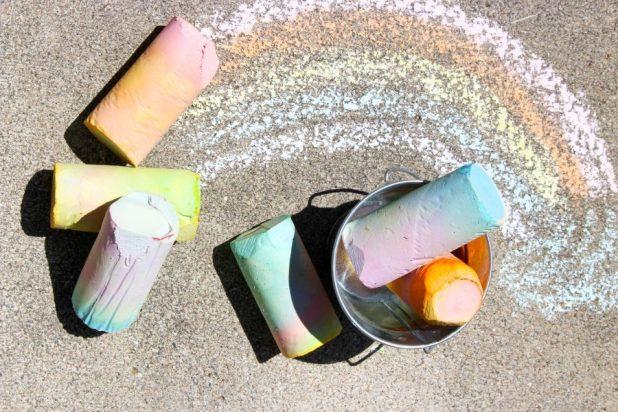 DIY Sidewalk Chalk summer project