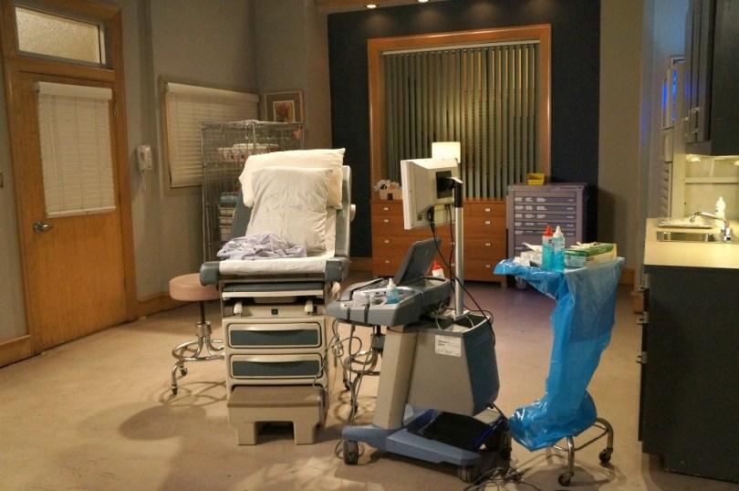 Hospital bed on the General Hospital Set