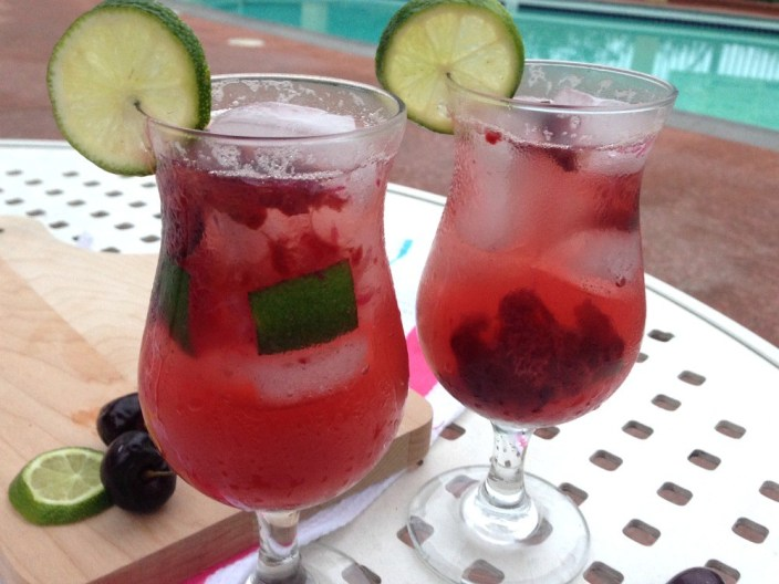 Cherry Lime Spritzer Non Alcoholic Cocktail Recipe