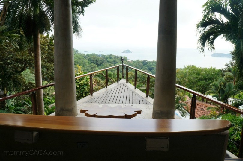 Ocean view from the deck at Si Como No Resort Hotel, Manuel Antonio, Costa Rica
