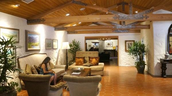 Lobby at La Casa Del Zorro Desert resort, California