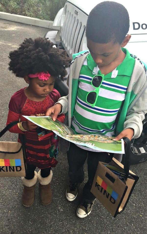 KIND at the Los Angeles Zoo, kids on a Kindness Safari scavenger hunt