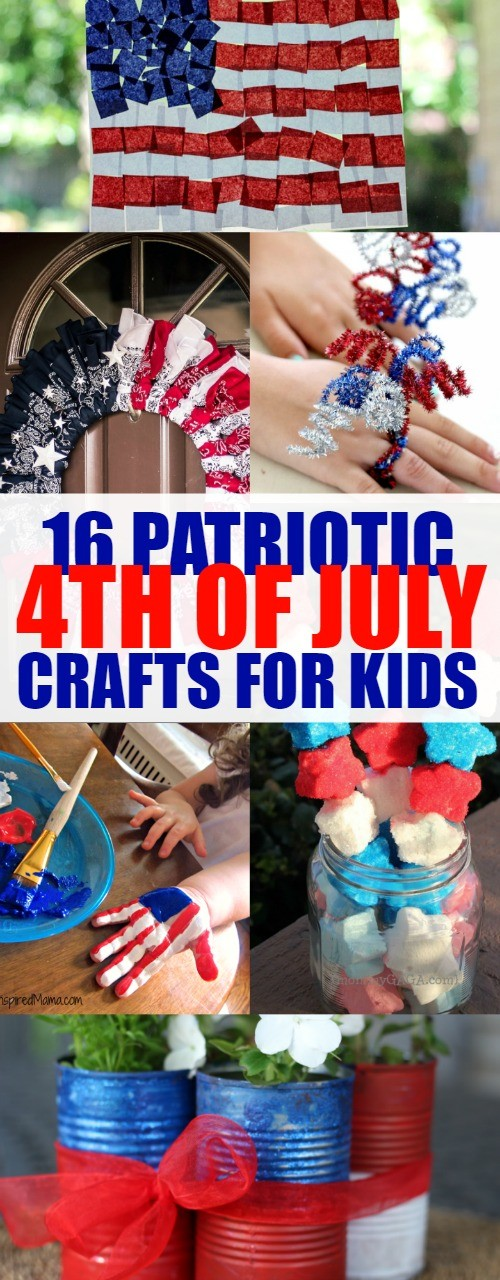 16 Easy Patriotic 4th of July Crafts for Kids - So many fun ideas, we love these red, white & blue activities!