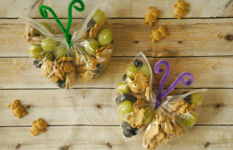 How to make butterfly snack bags, a cute and wholesome treat for kids